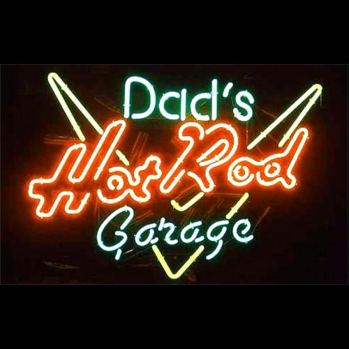 garage neon sign dads rod signs dad light cool lamp cave beer stuff redlinestands x16 pub bar