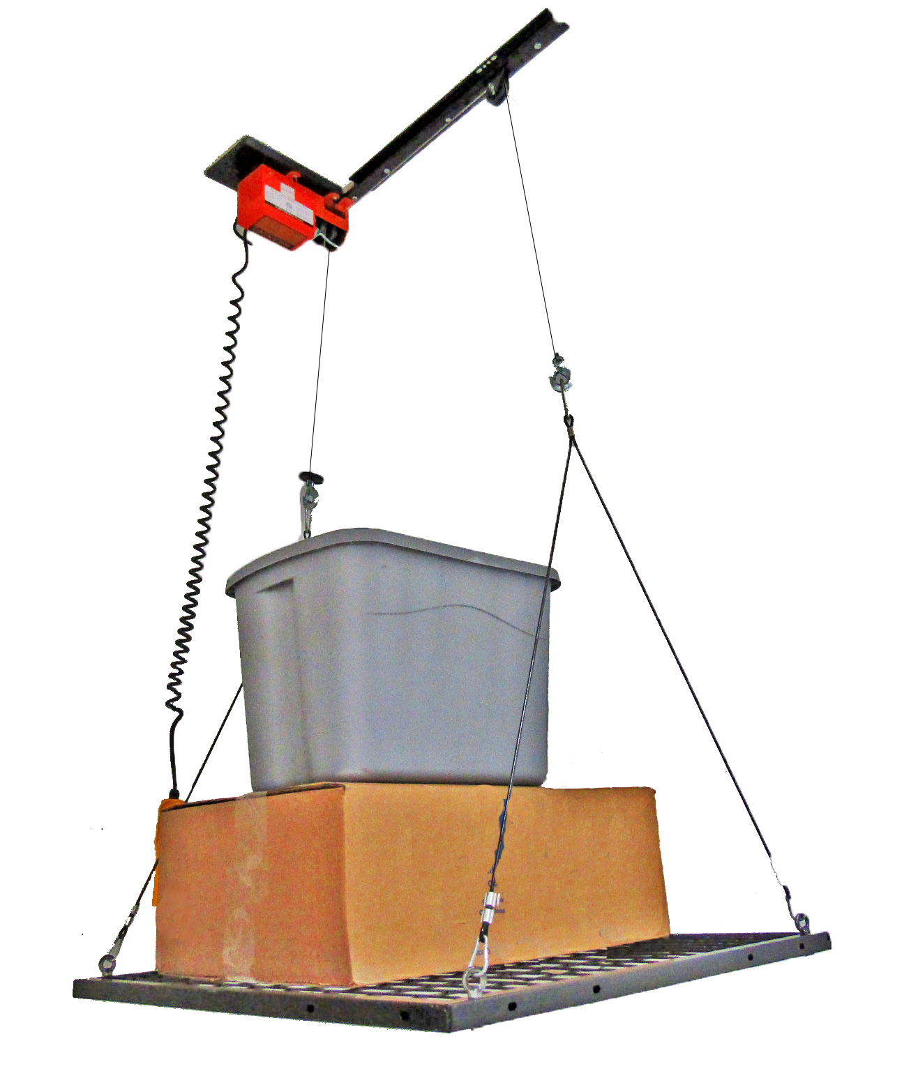 Garage gator 125 lb motorized storage lift free shipping for Electric motorized storage lift system