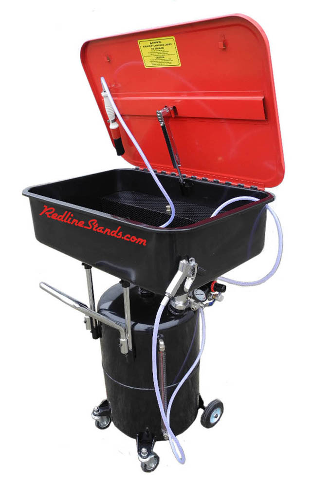 Redline 17 Gallon Air Powered Parts Washer Free Shipping