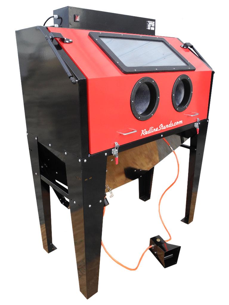 Redline Re48cs Clam Shell Abrasive Sand Blasting Cabinet
