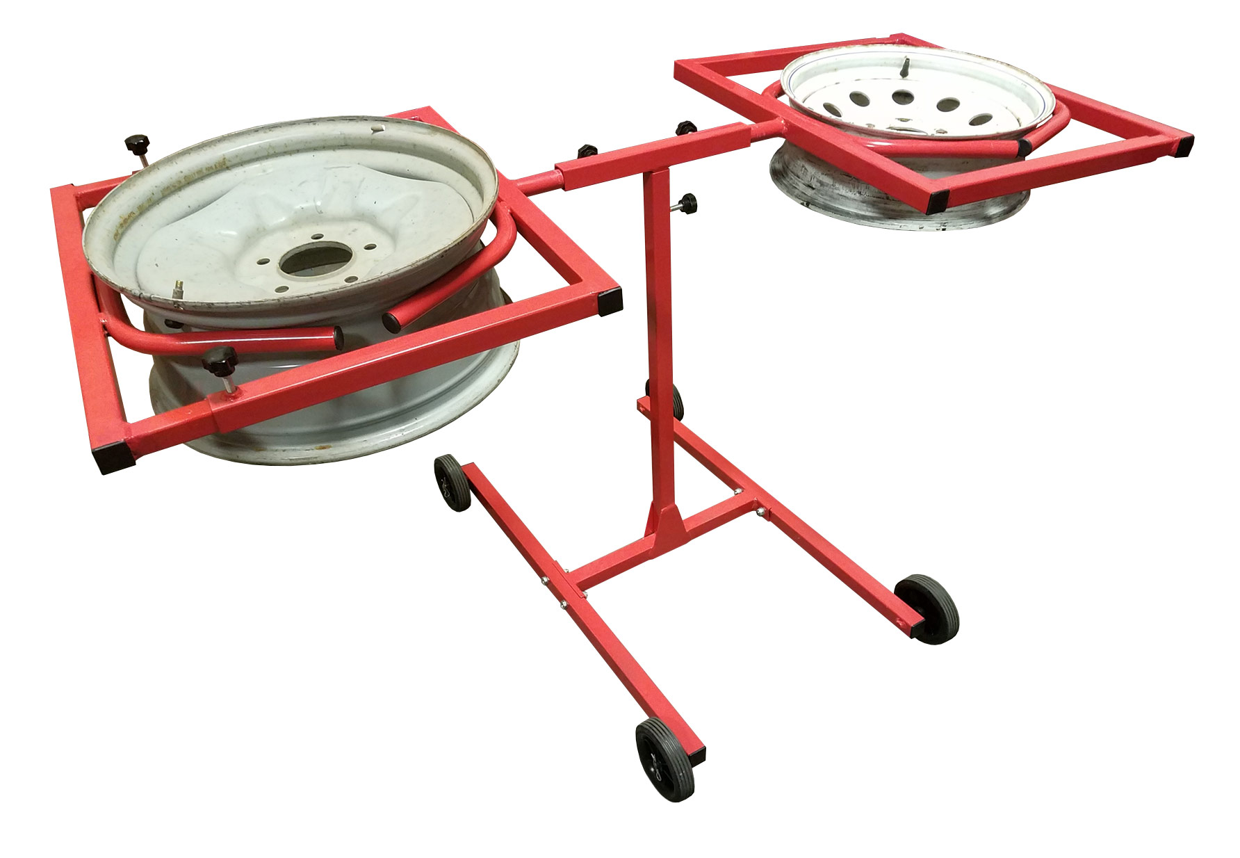 Redline Mobile Dual Wheel Rim Rotating Paint Stand