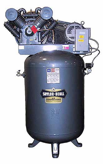 Saylor Beall Vertical 10hp 120 Gallon Air Compressor