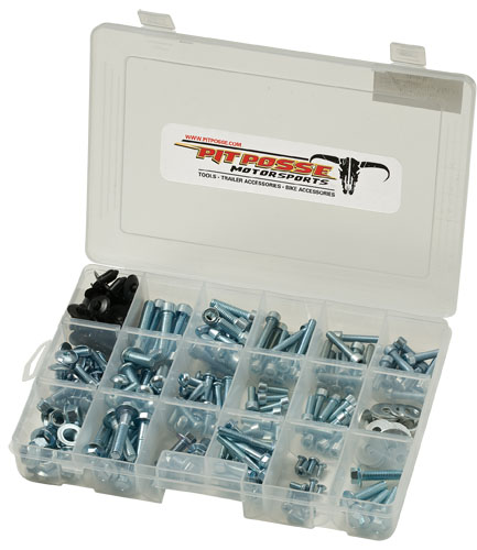 Pit Posse 225pc Sport Bike Assorted Fastener Kit
