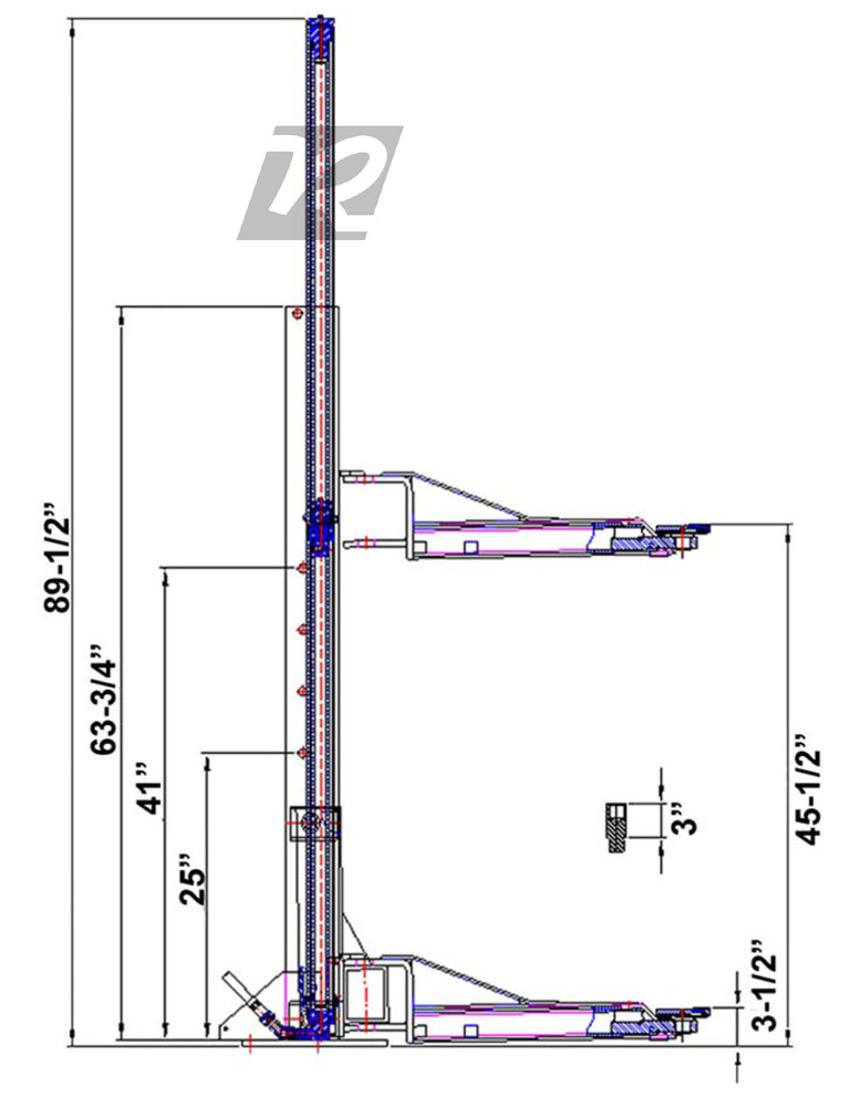 Movable Two Post Lift : Kernel lb movable rolling portable two post