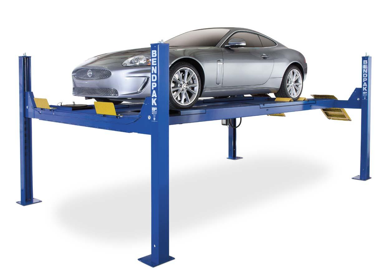 4 Post Car Lifts: BendPak HDS-14LSX 4 Post Electric Hydraulic Automotive Car