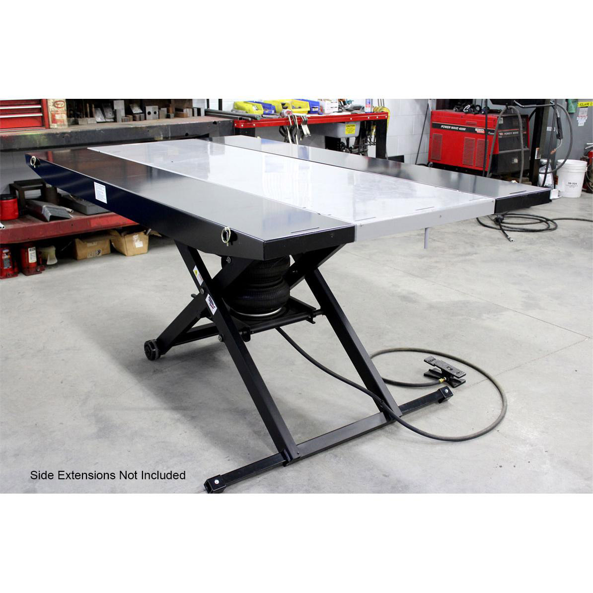 Air Motorcycle Lift Table : Handy standard air lift with vise free shipping