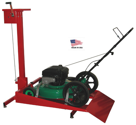 handy 14691 manual rotating walk behind push lawn mower lift stand