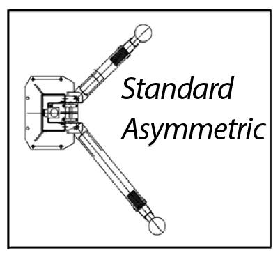 Launch 10k Asymmetric 2 Post Lift P 2111