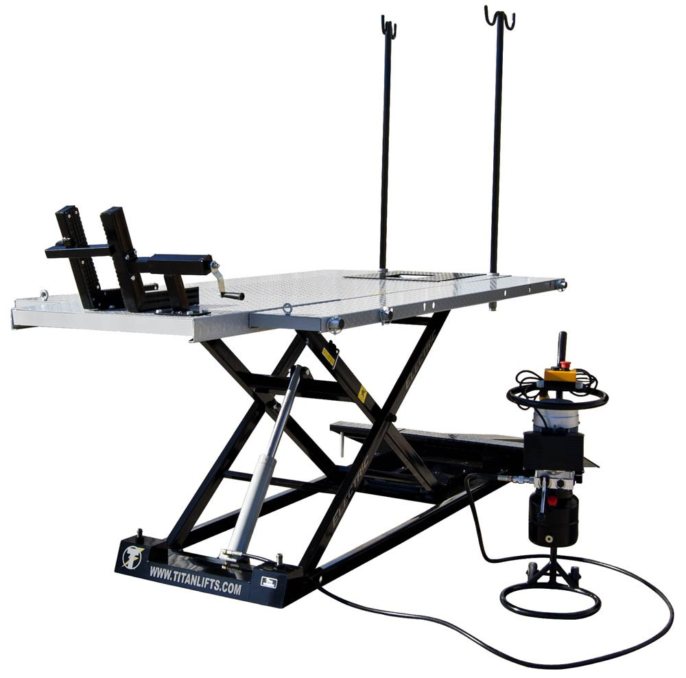 Titan Electric 1500 lb Motorcycle & ATV Lift Table - SHIPS FREE
