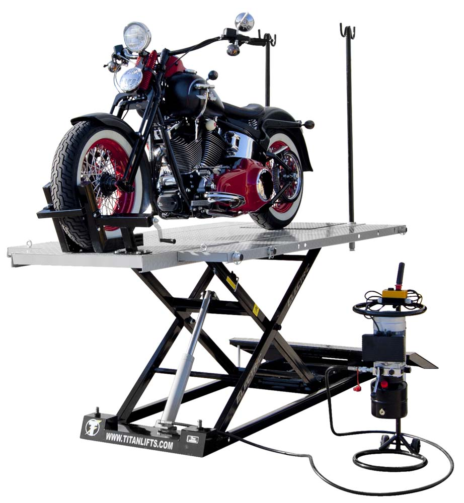 Titan Electric 1500 Motorcycle Atv Lift Table Free Shipping