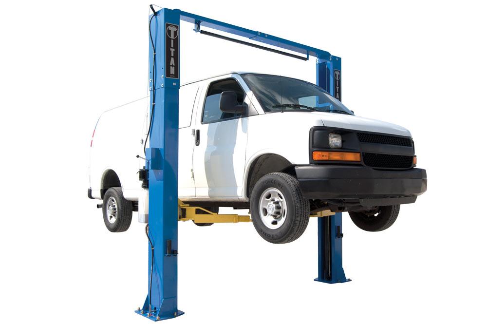 Titan 11k Adjustable Clear Floor 2 Post Lift Free Shipping