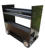 "RSR 26"" Tire Rack Rolling Pit Box Wagon Cart"