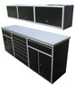 Redline 8 Ft Base and Overhead Cabinet Combo