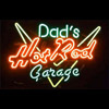 Dads Hot Rod Garage Neon Sign