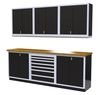 Moduline 9' Pro-II Series Base Wall Cabinet Combo 10