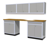 Moduline 9' Pro-II Series Base Wall Cabinet Combo 11