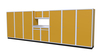 Moduline 20' Pro-II Series Base Wall Cabinet Combo 31
