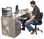 Pit Products Diamond Plated Office Desk