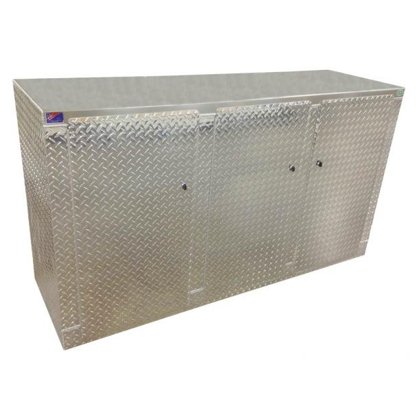 Pit Products 72'' Diamond Plate Floor Base Cabinet