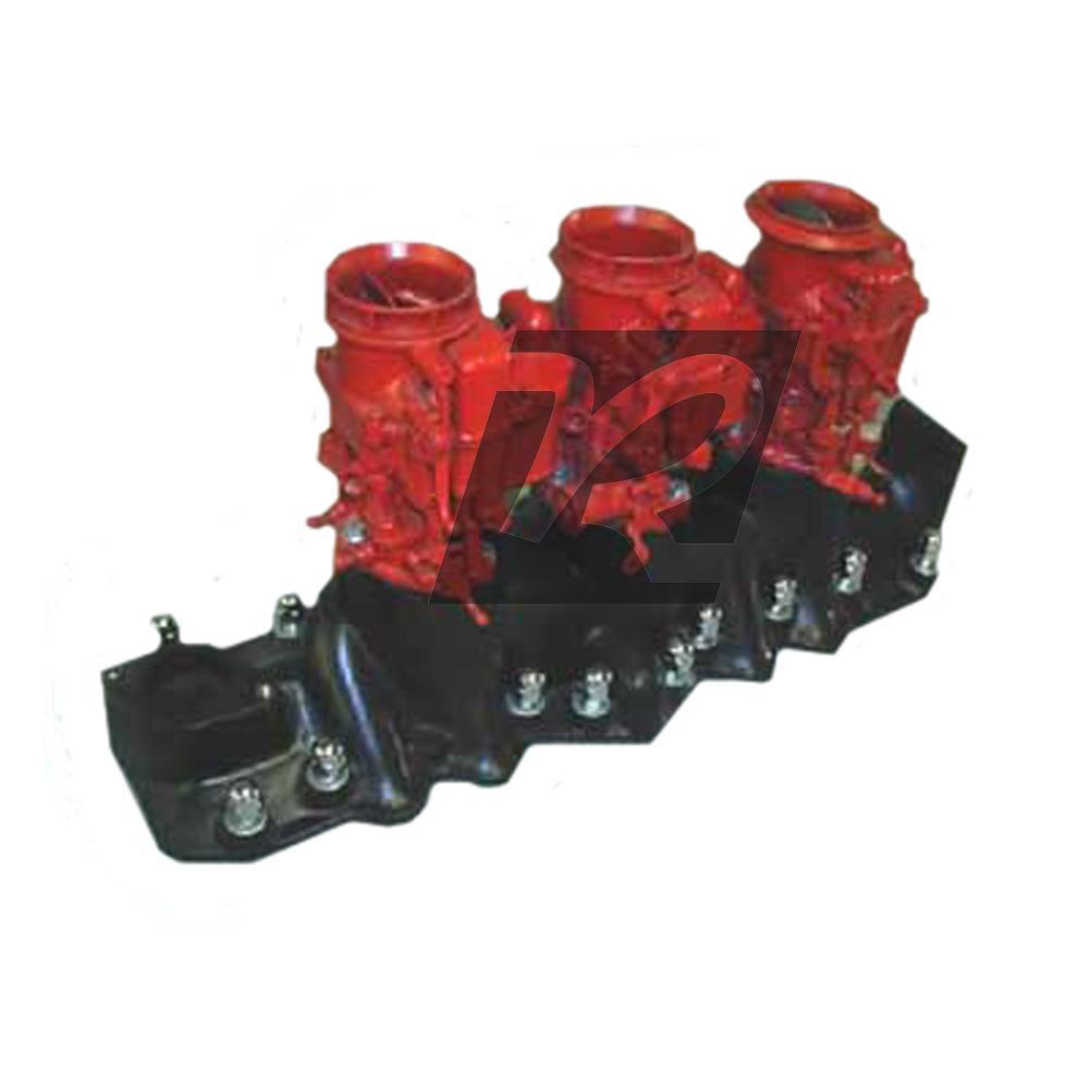 Fake P Ayr Chevrolet Lt1: FAKE P-Ayr Flathead Ford Intake Manifold 3-2 Set Up
