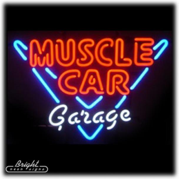 Muscle Car Garage Neon Sign
