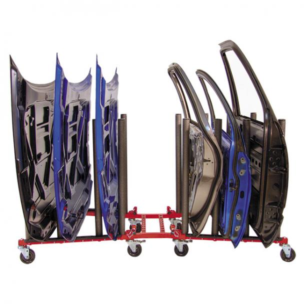 Innovative Automotive Hood Door Panel Cart