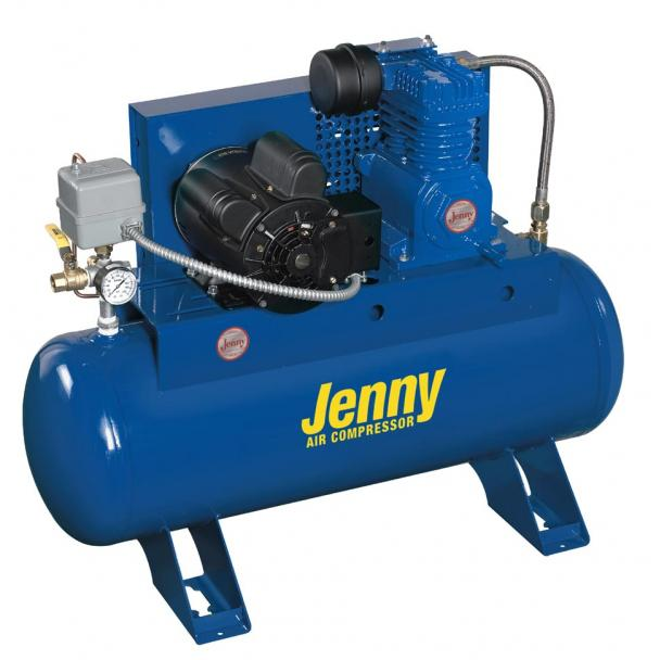 Jenny K2A-60V 60G Tank 125 Psi Electric Compressor