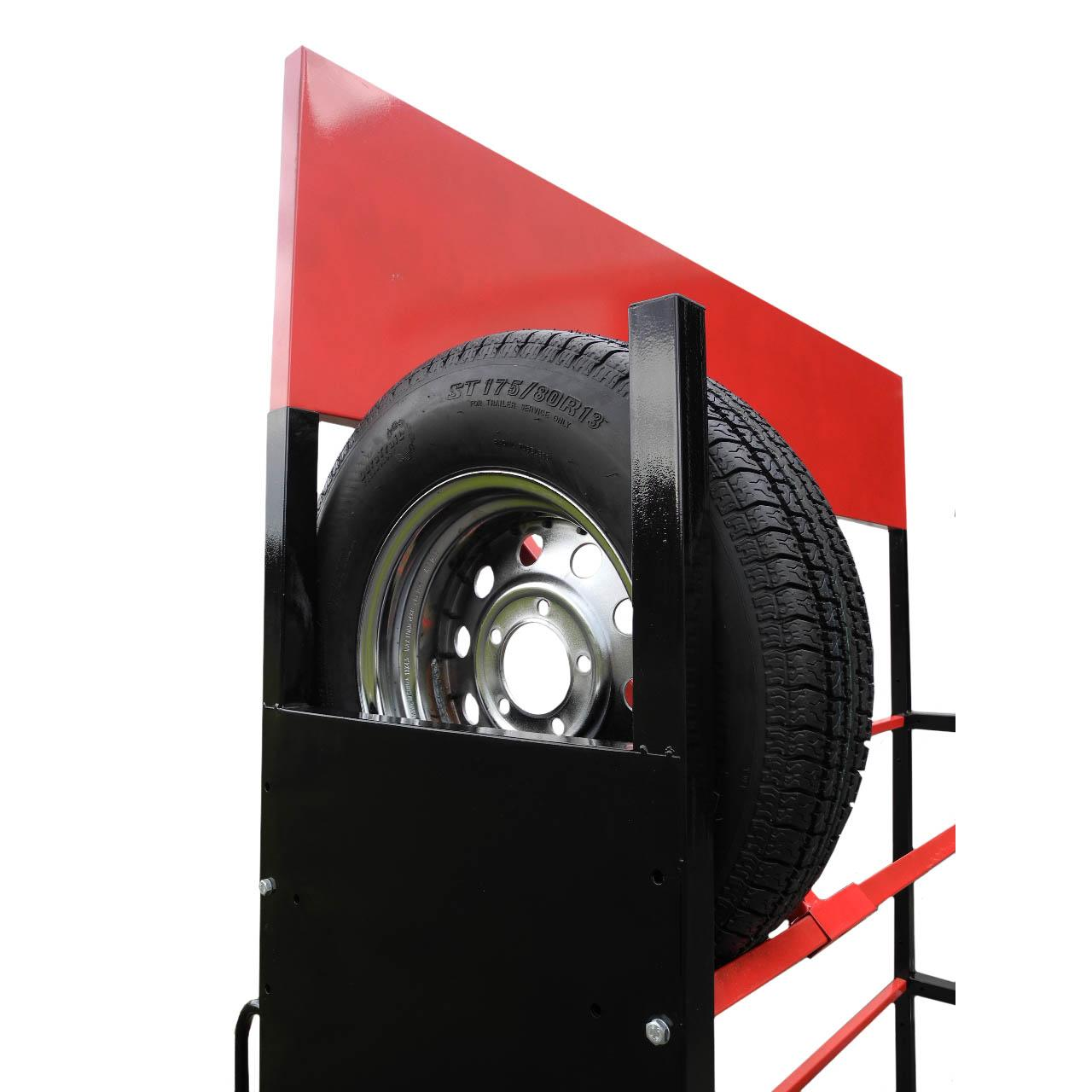 Redline Rolling Trailer Tire Amp Wheel Display Rack Free