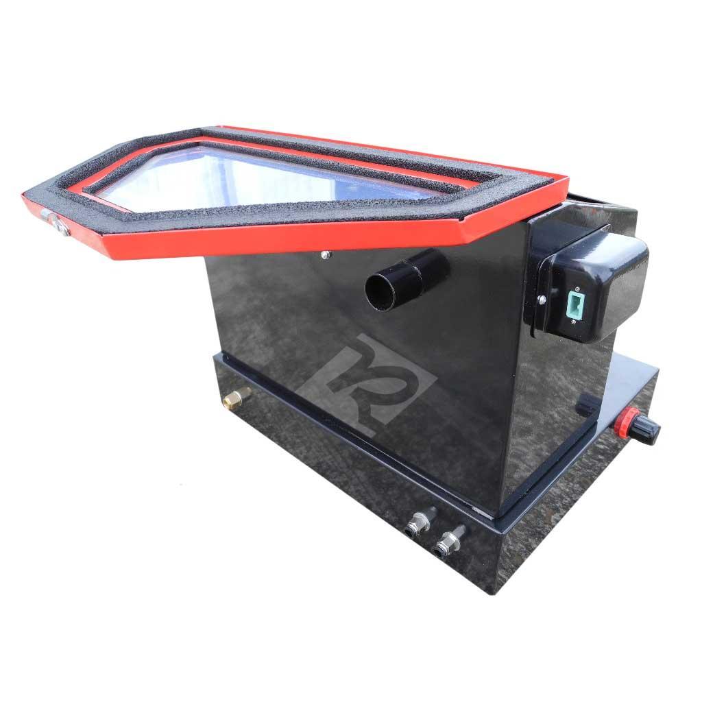 redline re22 benchtop abrasive sand blasting cabinet free shipping rh redlinestands com nesco tools 420 benchtop blast cabinet benchtop soda blast cabinet