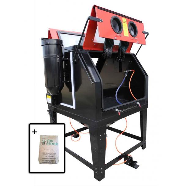 Redline 2 Person RE270 Abrasive Sand Blasting Cabinet + Media