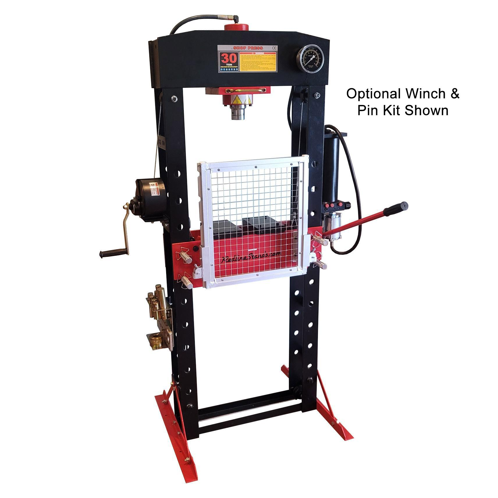 Redline 30 Ton Air Hydraulic Shop Press Free Shipping