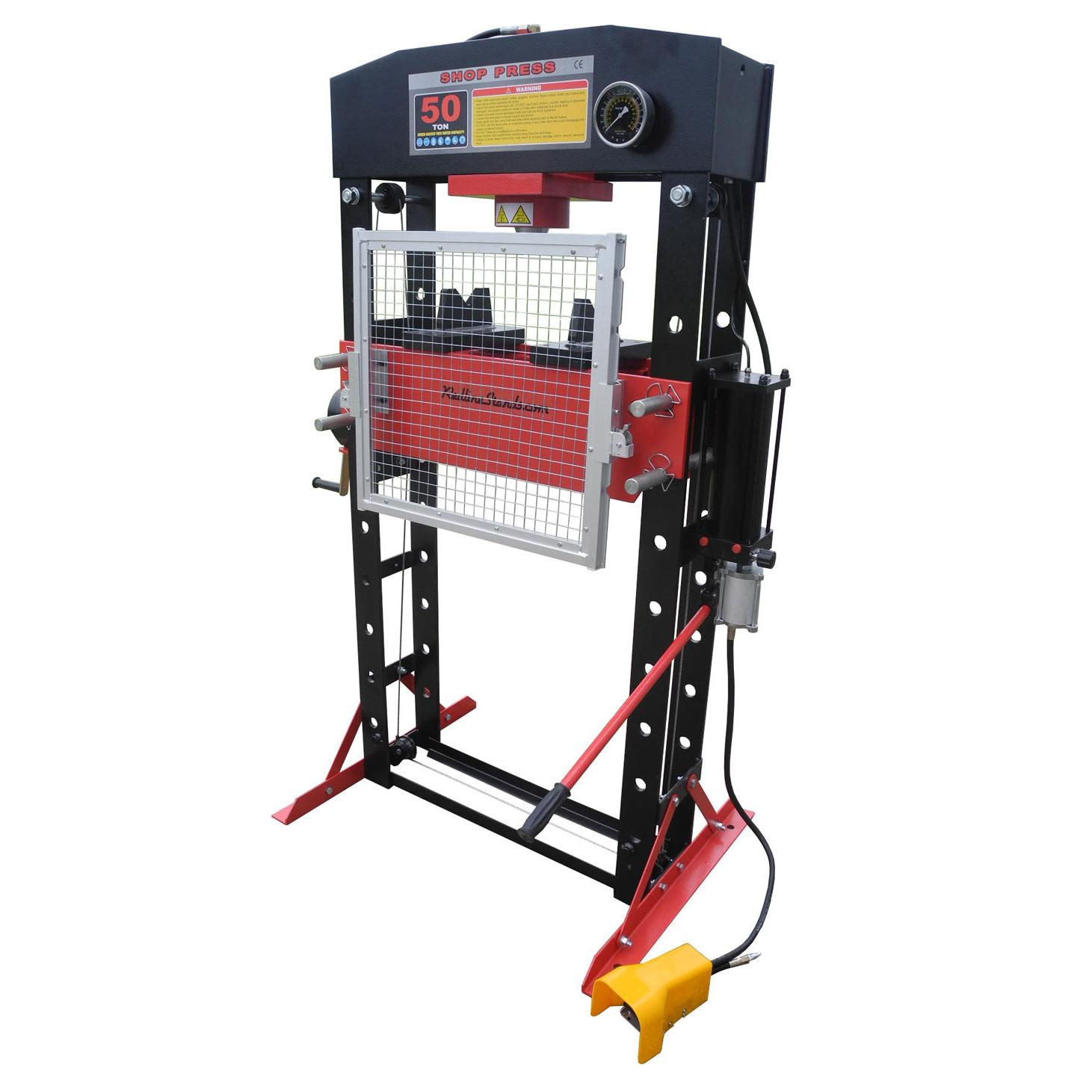 Redline 50 Ton Air Hydraulic Shop Press with FREE PIN KIT