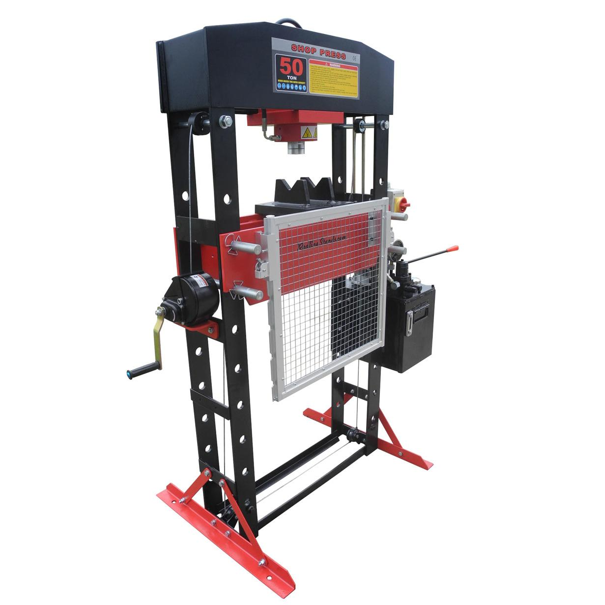 Redline 50 Ton Electric Hydraulic Shop Press