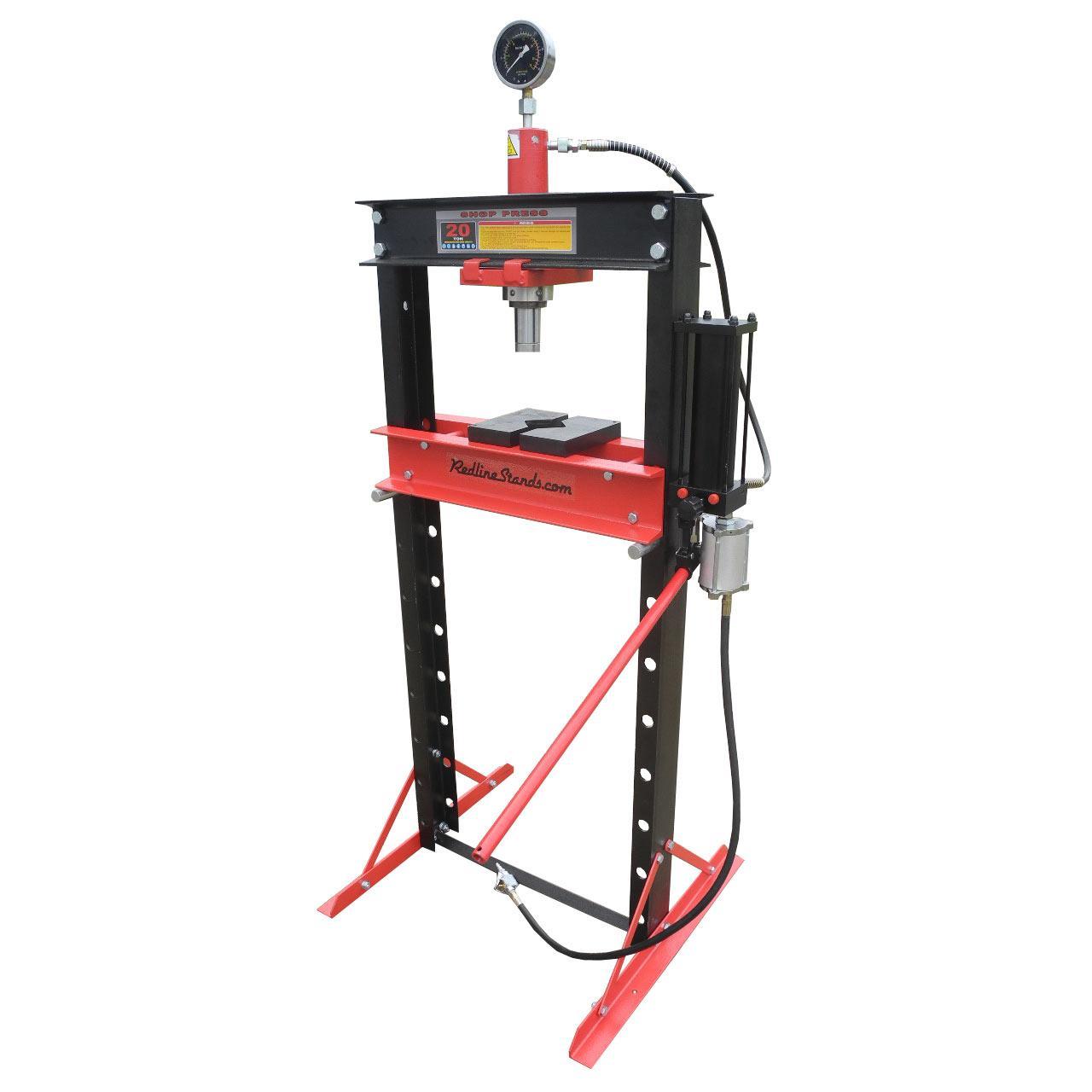 Redline 20 Ton Air Hydraulic Shop Press