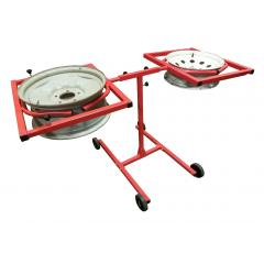 Redline Mobile Dual Wheel Rim Rotating Paint Stand