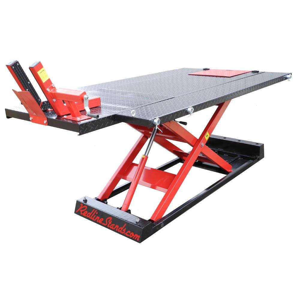 redline 1500hd motorcycle atv lift table free shipping rh redlinestands com atv lift table diy atv lift table for sale