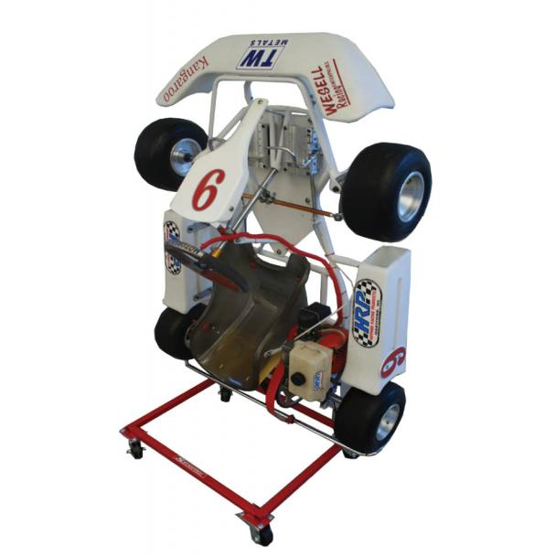 Streeter Upright Rolling Go Kart Stand for Kid Karts