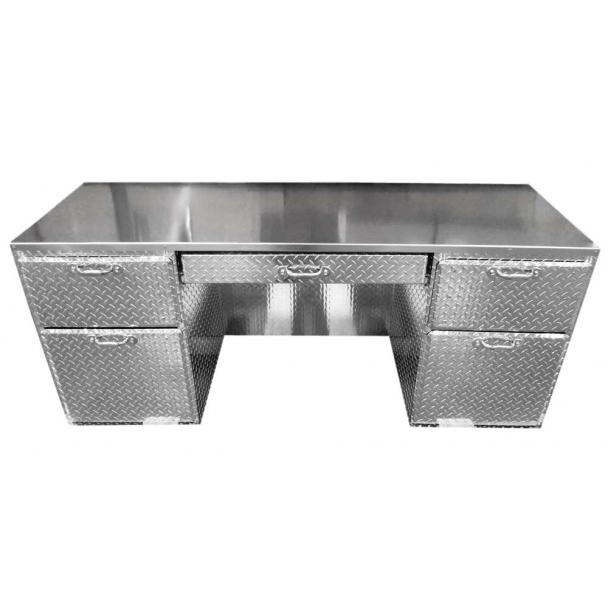 "Pit Products Diamond Plated ""Ultra"" Office Desk"