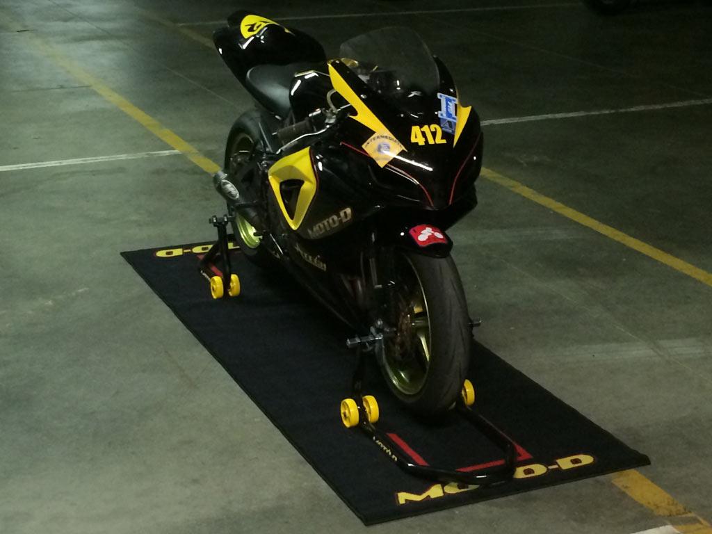 Moto D Motorcycle Paddock Track Mat Free Shipping