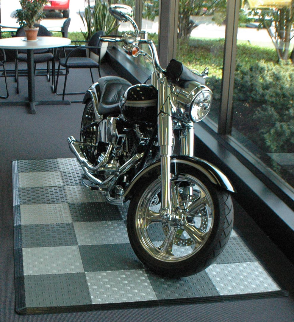 4' x 9' SwissTrax Motorcycle Modular Flooring Kit