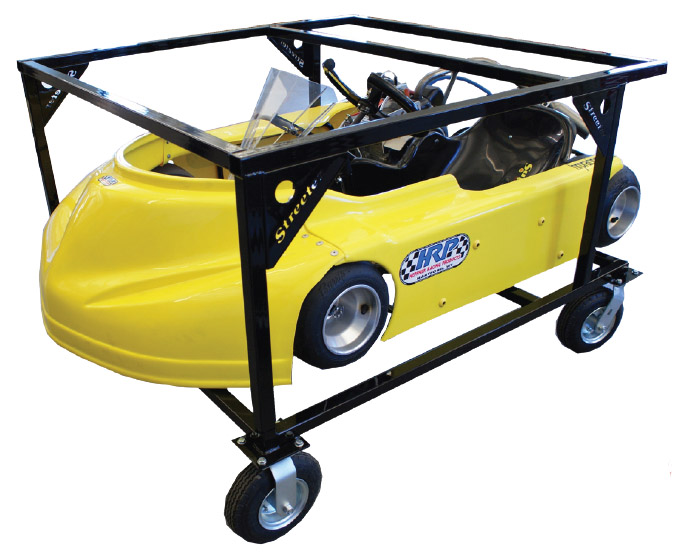 Streeter Double Wide Double Stack Rolling Kart Stand