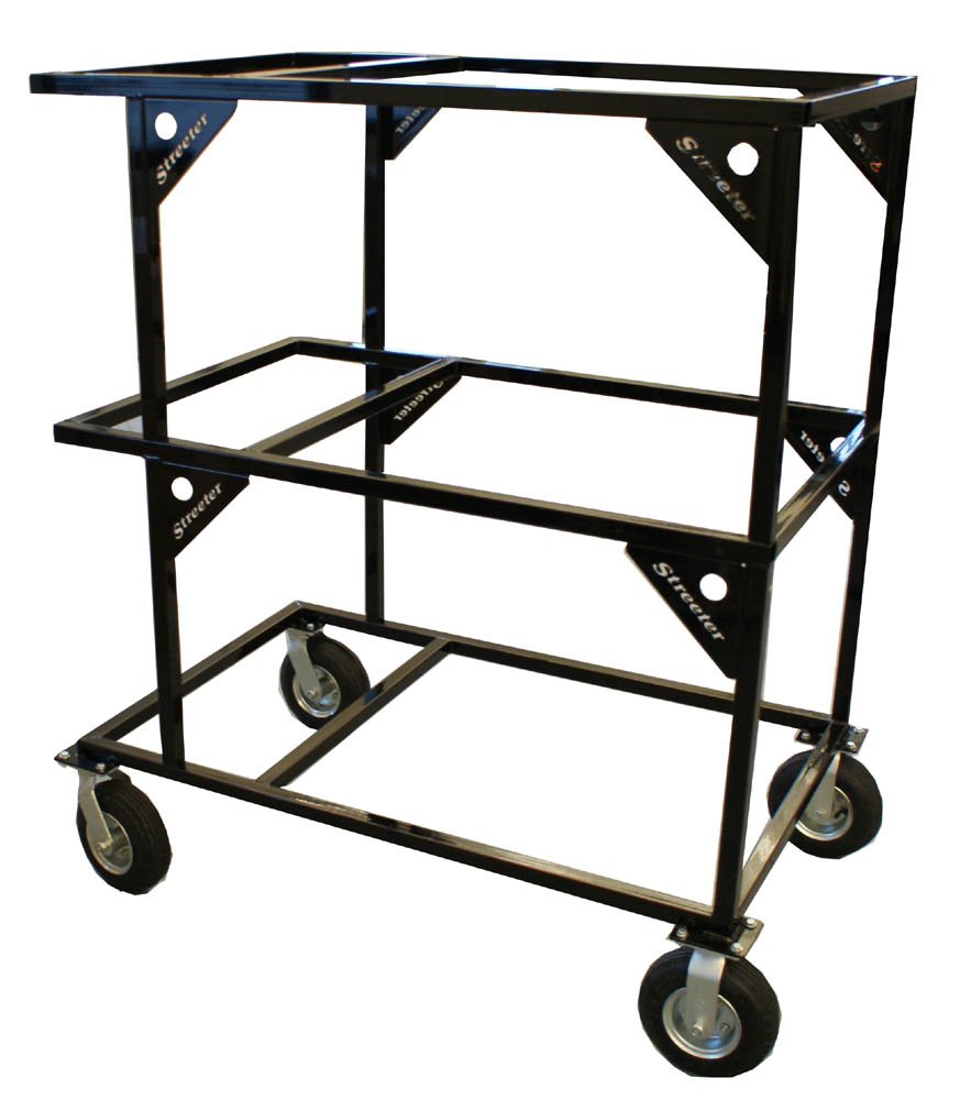 Streeter Sprint Triple Stack Rolling Kart Stand - FREE SHIPPING