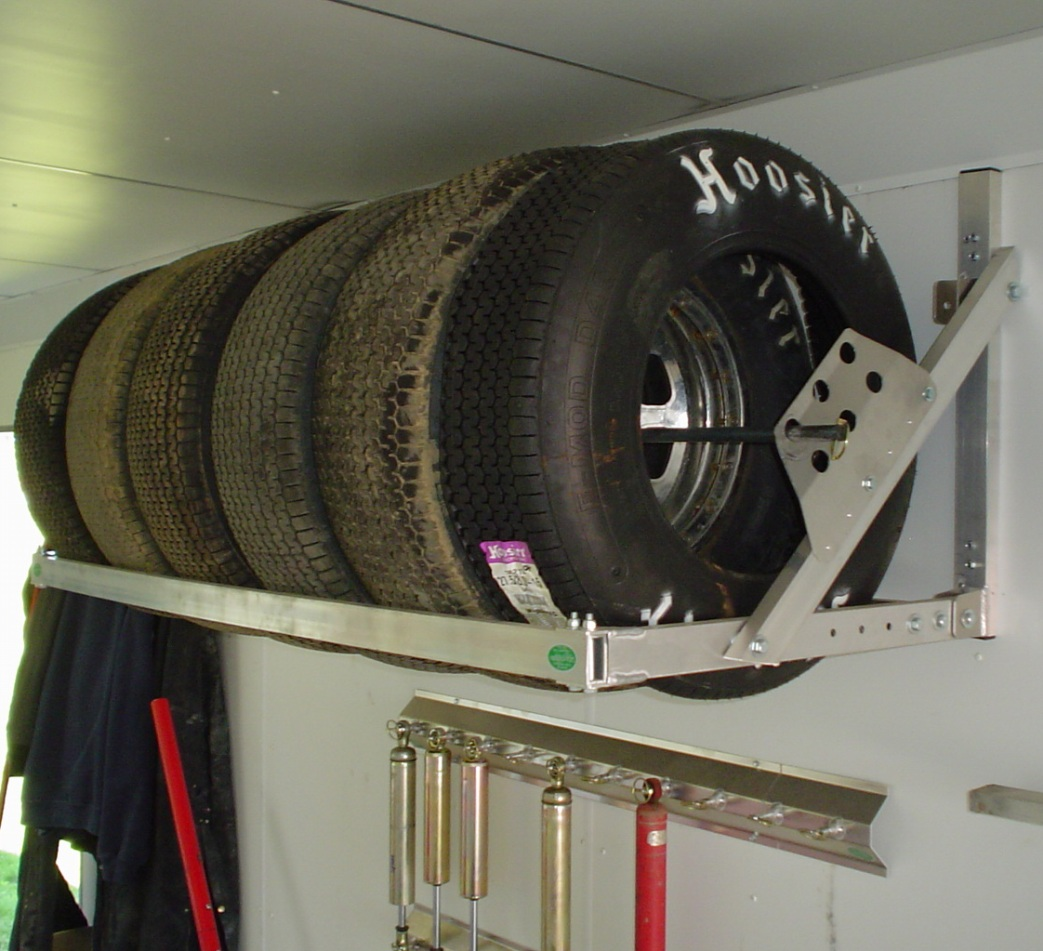 Pit Products 6' 6ft Aluminum Tire Wheel Rack Race Car Trailer Hauler Accessory | eBay