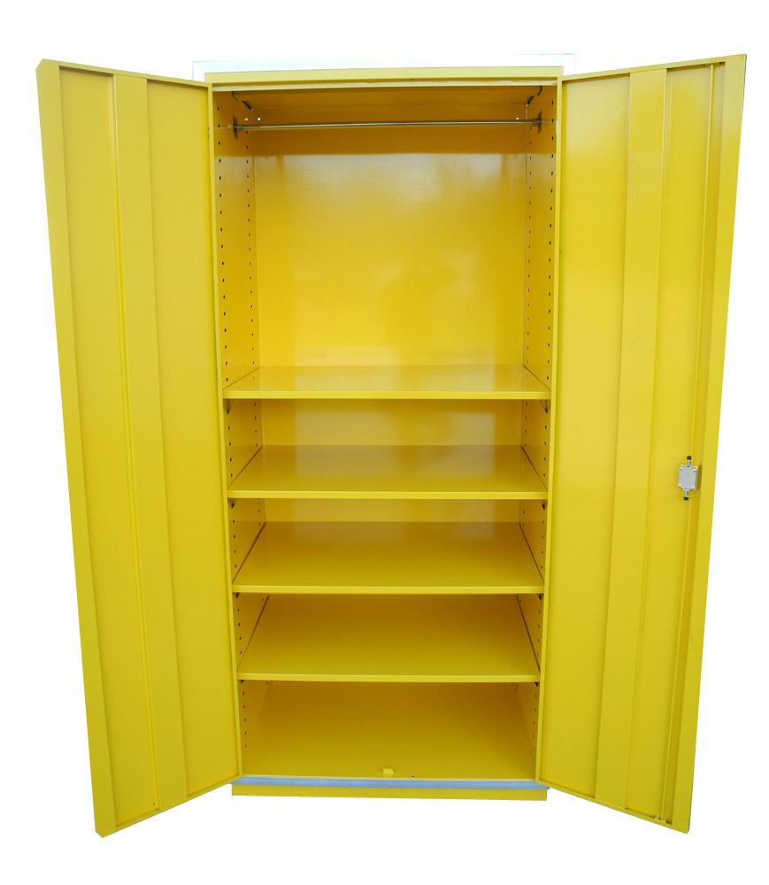 Redline 4 Shelf Locker Cabinet Storage Double Door